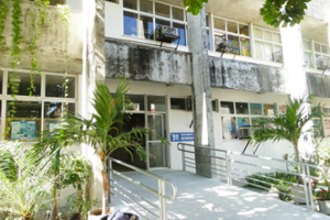 Foto da fachada do Departamento de Geografia.